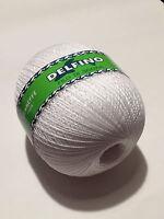 Filati maglia uncinetto gomitoli gomitolone 250 Gr 100% Cotone bianco 3 finezze