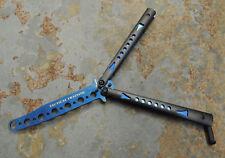 Albainox BUTTERFLY Trainer Übungsmesser STUMPF Balisong Blue 36258