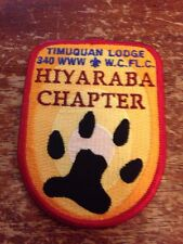 Timuquan Lodge #340 Hiyaraba Chapter X-1 nonmylar OA Order of the Arrow CE-249