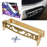 1X New Golden Car License Number Plate Holder Surround Frame Metal Fixing Screws