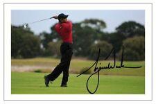 TIGER WOODS OPEN GOLF AUTOGRAPH SIGNED 6x4  PHOTO PRINT PGA TOUR