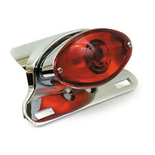 MOTORCYCLE STOREHOUSE CATEYE TAILLIGHT UNIT CHROME DIE-CAST BC20952  - T