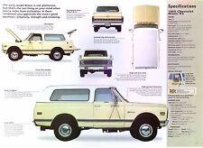 1969 Chevrolet Blazer K5 350 ci 4x4 All Wheel Drive IMP Info/Specs/photo 11x8