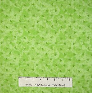 Happy Catz Fabric - Small Green Cat Paw Print Toss - Red Rooster YARD