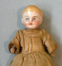 """Antique Miniature All Bisque Dollhouse Baby Doll 3 5/8"""" Tall P226"""