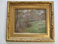 ANTIQUE ALFRED JUERGENS OIL PAINTING 19TH TO 20TH CENTURY ILLINOIS LANDSCAPE