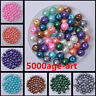 30/100/200pcs Charm Round Glass Pearl Loose Spacer Beads 8mm 12 Color U Pick
