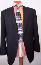 CANALI Black 100% Pure Wool 2 Button Suit Size 50/40 R  Drop 7 Excellent Conditi