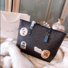 Mickey Mouse Purse Ladies Leather Shoulder Bag Fashion Handbag Women Tote Bag