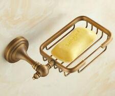 Washroom Antique Brass Wall Mounted Soap Dish/soap Holder Basket