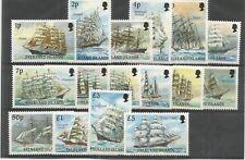 FALKLAND ISLE 1989 CAPE HORN SAILING SHIPS SG,567-582 U/M N/H LOT 7119A