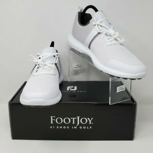FootJoy Flex Golf Shoe Men's Size 9.5 Medium White/Grey 56120 New