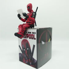 Marvel X-Men Deadpool Dead Pool 7cm Cake Topper Figure Toy Sitting Pose Doll