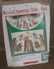 Dimensions Christmas Blessed Nativity Tree Skirt Counted Cross Stitch 8379 (JBC