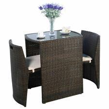 3PCS Patio Rattan Coffee Table Chair Set Outdoor Garden Wicker Dinning Furniture