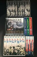 American History VHS Lot 30 In Total Civil War,Railroad, Europe War, 40's