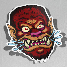 Monster Face Scary Dangerous Angry Vinyl Sticker Decal Window Car Van Bike 3455