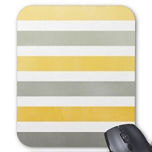 Striped Yellow and Gray Mousepad 240 mm x 200 mm x 5 mm Mousemat