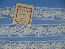 uralte feine französische Valencienne Spitze B//25mm 90//10 um 1960//70 Antik