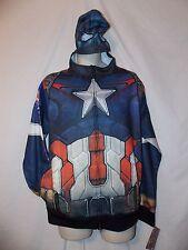 mens marvel captain america costume suit sweatshirt  hoodie jacket M nwt