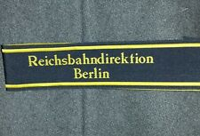 Reichsbahn Ww2 German Army Cuff Titles - Reproduction Several Units