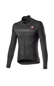 CASTELLI Goccia Waterproof Cycling Jacket DARK GREY Large Men's Brand New