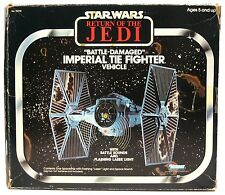 Vintage Star Wars Battle Damaged TIE Fighter Mint Unused w/Box & Insert Works