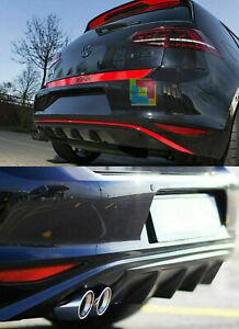 DIFFUSORE SOTTO PARAURTI POSTERIORE VW GOLF 7 2012-2016 IN ABS TUNING DOPPIO SX