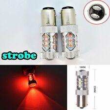 Strobe 1157 2057 2397 3496 7528 BAY15D P21/5W 80W LED Red Bulb Front Signal B1 B