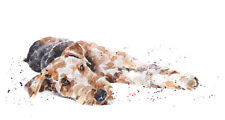 Airedale Sound Awake - Watercolour Print.Airedale Terrier,Airedale Terrier art