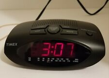 Timex T-228B AM/FM Alarm Clock Radio  With Battery Backup Fully Tested and Works