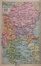 Balkans - Austria Yugoslavia Hungary Double Sided  Antique Map c1932 Original