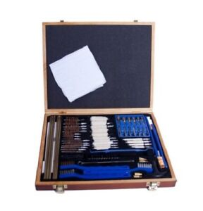 GunMaster Universal Select 63 piece Gun Cleaning Kit in Wooden Presentation Box