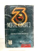 Mortal Kombat 3 SNES Instruction Manual Booklet Book Only!