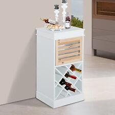 Homcom vino rack unità CON BARRA DA TAVOLO STAND 12 Bottiglie Supporto Storage 3 cassetti