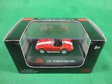 Malibu International 1/87 Diecast 1965 Shelby AC Cobra Red Mint on Card BX80 IV2