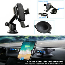 Fast Wireless Car Charger Suction Cup Holder Base For IPhone X8/Samsung S9Plus