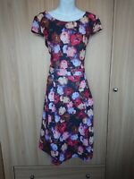 Dorothy Perkins Womens Multicolour Floral Fit&Flare Stretch Dress Size 18