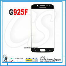 Vetro frontale curvo nero per Samsung Galaxy S6 Edge SM G925F Ricambio