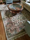 Beautiful wool Persian rug - flower design - excellent condition 8 x 10