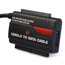 USB 3.0 to SATA IDE Adapter Converter OTB Transfer External HDD/DVD Burner Drive