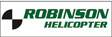 A055 Robinson Helicopter Airplane banner hangar garage decor Aircraft signs