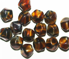 Tiger Eye Nugget Czech Pressed Glass Beads 10mm (pack of 16)