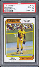 1974 Topps #102 Bill Greif (Washington National League) PSA 10 Gem Mint - Pop 1