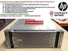 HP DL580 Gen8 4x E7-4830v2 40-Core 512GB P830i/2GB 4x 1200W 10SFF 4U Rack Server