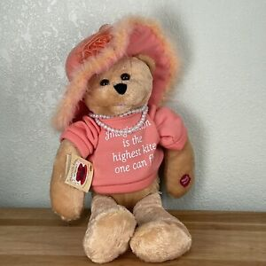 """Chantilly Lane Bear Plush 22"""" Pearl's Wisdom - Sings THATS WHAT FRIENDS ARE FOR"""