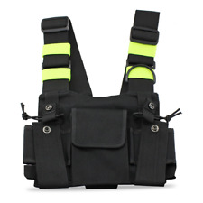 abcGoodefg Radio Chest Harness Chest Front Pack Pouch Holster Vest Rig for Two W