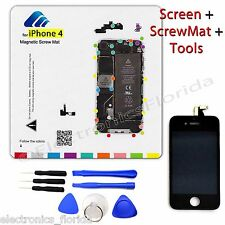 LCD Digitizer Glass Touch Screen + Magnetic ScrewMat + Tools for Iphone 4 GSM