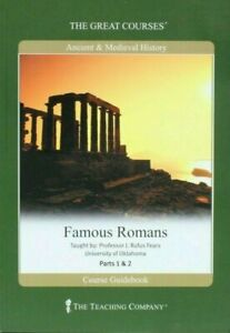 The Great Courses Ancient & Medieval History Famous Romans Part 1 & 2. 12 CDS