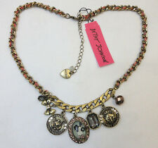 Betsey Johnson Cameo Critters Multi Shaky Coin Necklace NWT